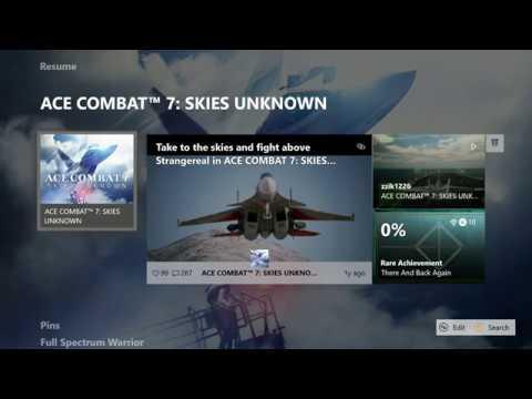 ACE COMBAT 7 : SKIES UNKNOWN XBOX ONE X PREORDER BONUS GAME MISSING ??