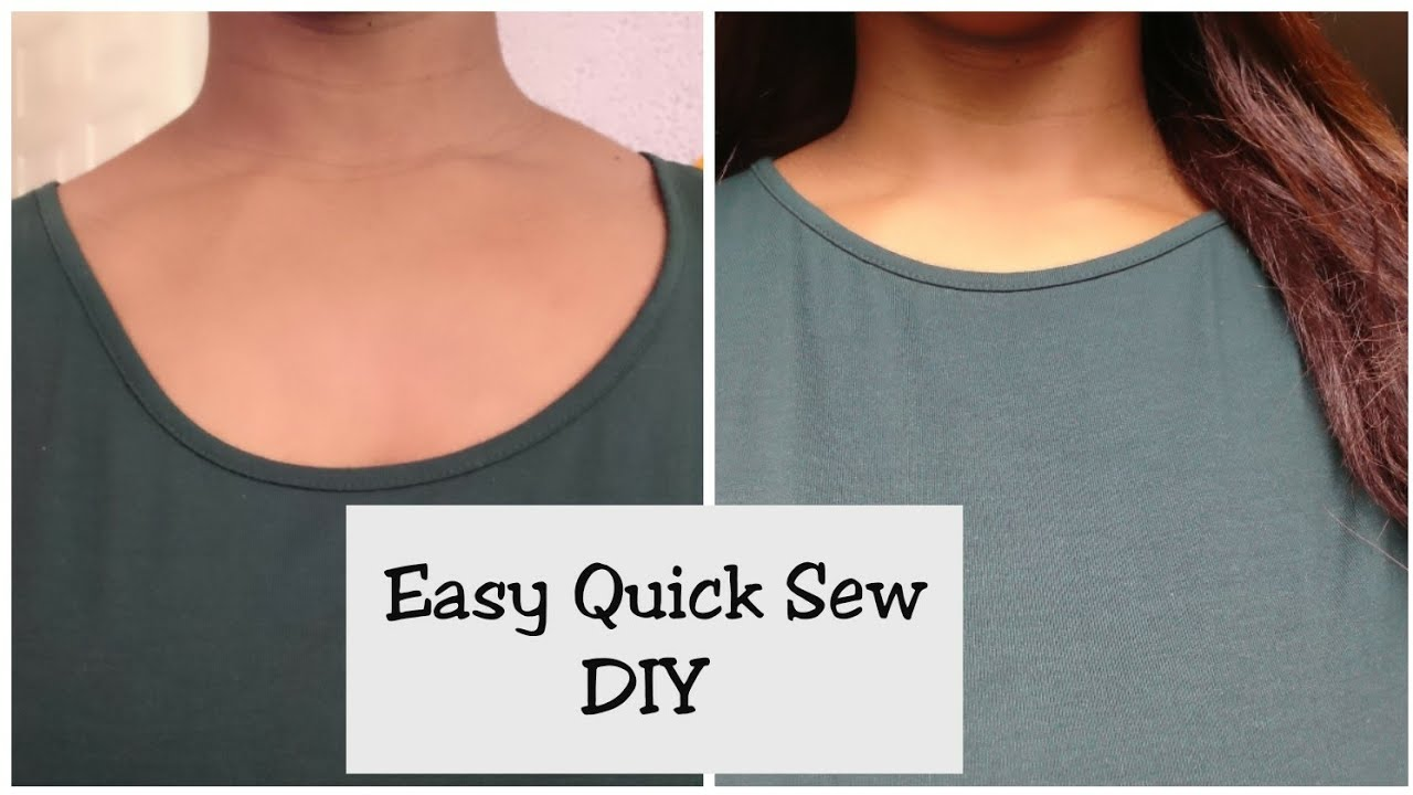 How To Fix A Low Neckline T Shirt Youtube