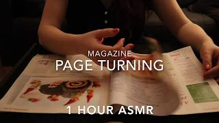 ASMR - One Hour Cooking Magazines Page Turning sounds - No talking | ASMR Relaxation ♥