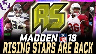 RISING STARS ARE BACK!! HOW TO TRAIN & UPGRADE THE RISING STARS! - Madden 19 Rising Stars