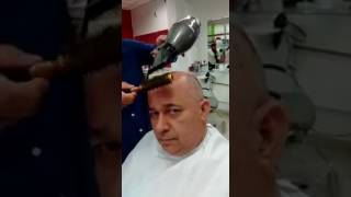 Bald Guy Gets a Haircut