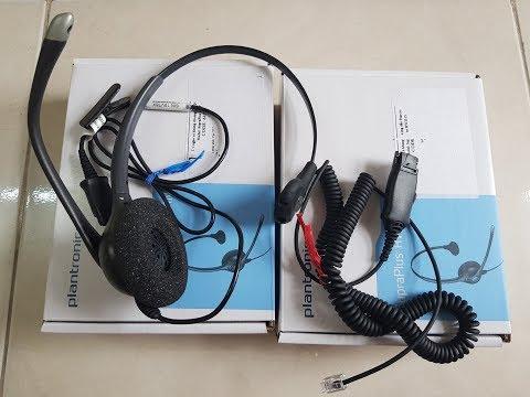 Plantronics HW251N Headset review   Tai nghe chuyên dụng dành cho điện thoại viên