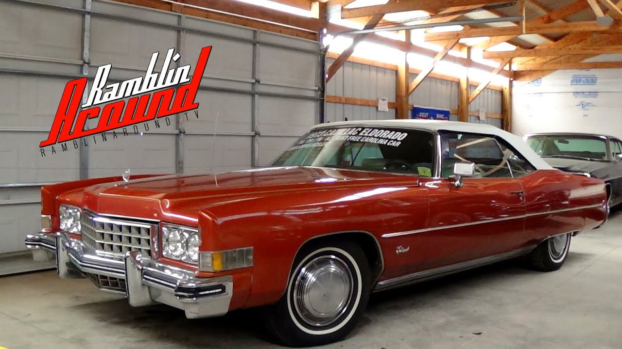 1973 Cadillac Eldorado Convertible 500 V8 - YouTube