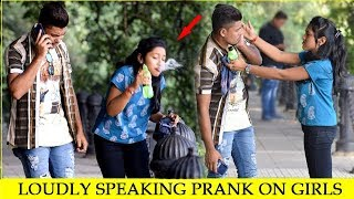 Loudly Speaking in Public Prank II Talking Loudly On Phone in Public II JSM Brothers