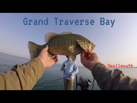 These Smallmouth Are Giants!!! Grand Traverse Bay Michigan