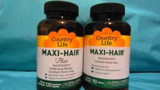видео Maxi hair витамины состав - Витамины для волос Country Life Maxi-Hair