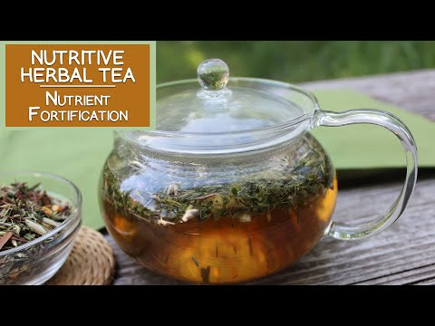 Nutritive Herbal Tea Infusions for Vitamin-Mineral Fortifica