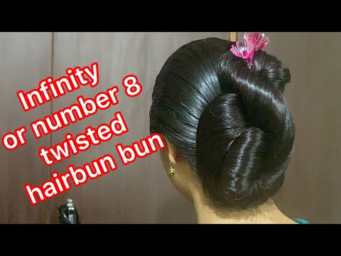 8 or ♾ hairbun with big clutcher and bun stick