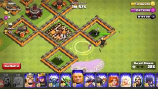 Clash of clans Wizz healers vs FHX