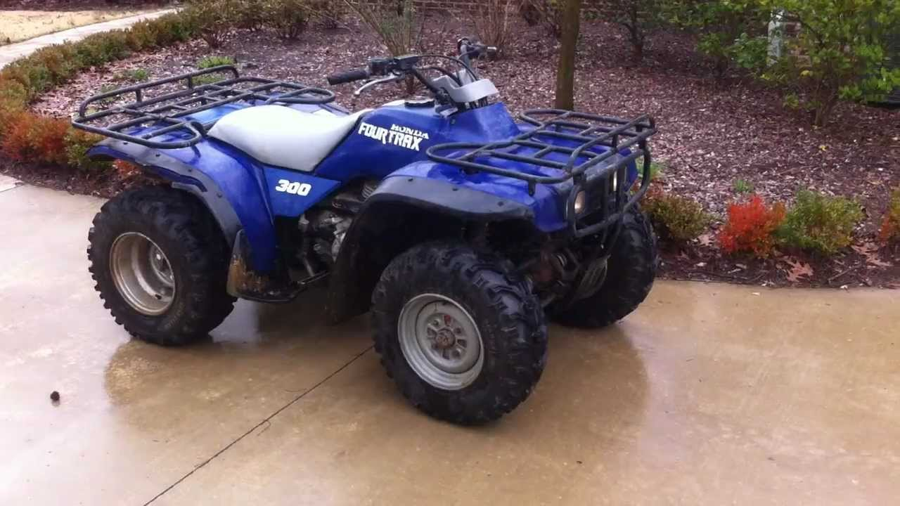 1990 Honda Fourtrax 300 4x4 For Sale $1700 - YouTube