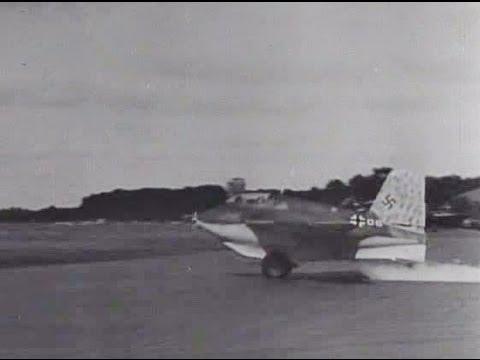 Messerschmitt Me-163B Komet Testing at Zwischenahn Airfield WWII