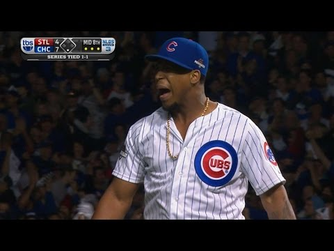 STL@CHC Gm3: Strop fans two in 8th, keeps Cubs ahead