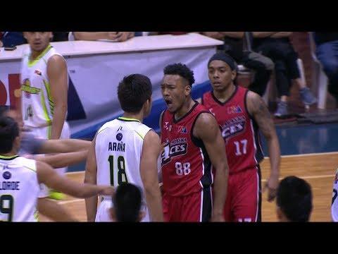 Abueva and Araña exchange sweet nothings! | PBA Philippine Cup 2018