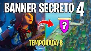 FORTNITE - BANNER SECRETO DA SEMANA 4 TEMPORADA 6!