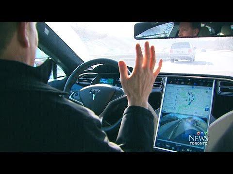 Tesla on auto-pilot: Pat Foran tests self-driving car