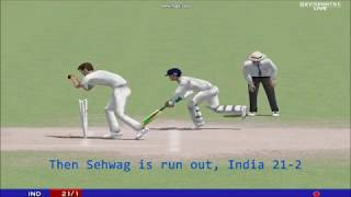 Cricket 2004: India vs England, 1st test, Day 2
