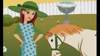 Подбери модный наряд Мультики для девочек Мультфильм и игра про животных Наездница и лошадка