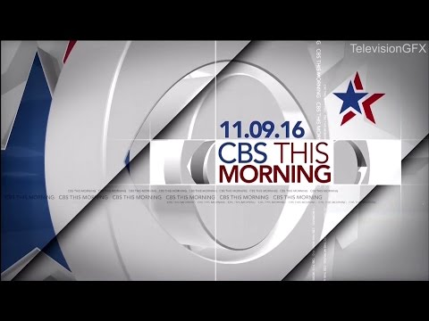 CBS This Morning Election Open and Eye Opener 2016 (7am)