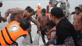 এমভি মোস্তফা লঞ্চ দুর্ঘটনার মর্মান্তিক দৃশ্য, পাঠুরিয়া ঘাট, দৌলতদিয়া ।(Boat Accident in Bangladesh)