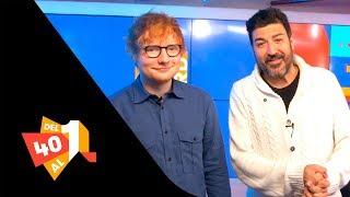 Tony Aguilar comunica a Ed Sheeran que PERFECT es número 1 de LOS40