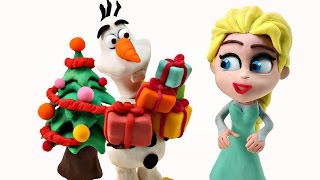 PLAY DOH Stop Motion Surprise Eggs Disney Elsa Frozen Domo-Kun Toy Animation by DCTC