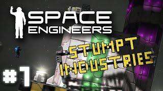 Stumpt Industries - Space Engineers - #1 - Signs of Trouble (Survival Multiplayer Gameplay)