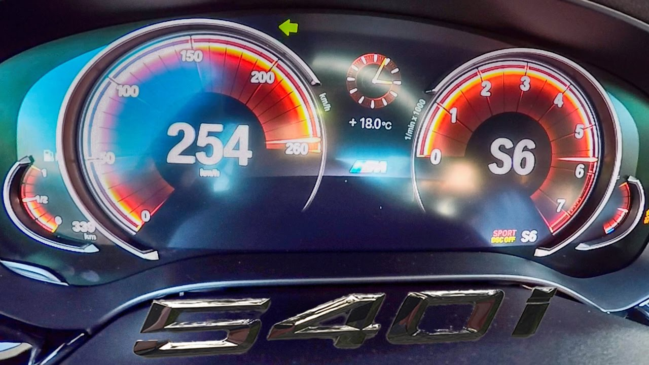 Bmw 5 Series G30 540i Acceleration Top Speed 0 254 Km H Youtube