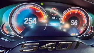 BMW 5 Series G30 540i ACCELERATION & TOP SPEED 0-254 km/h
