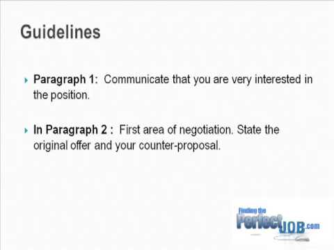 tips to successful salary negotiation letter