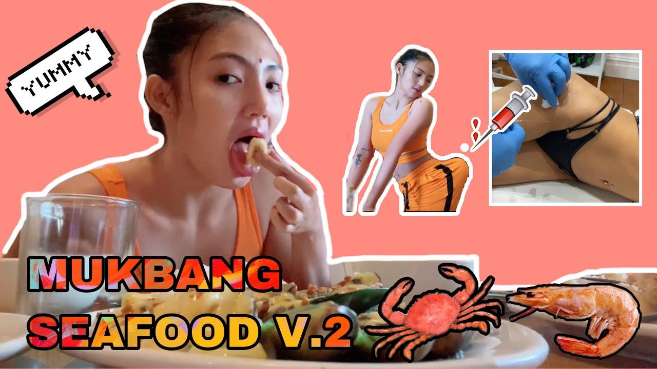 MUKBANG SEAFOOD V.2   NAGPAGAWA AKO NG PUWET (ANG LAKI)