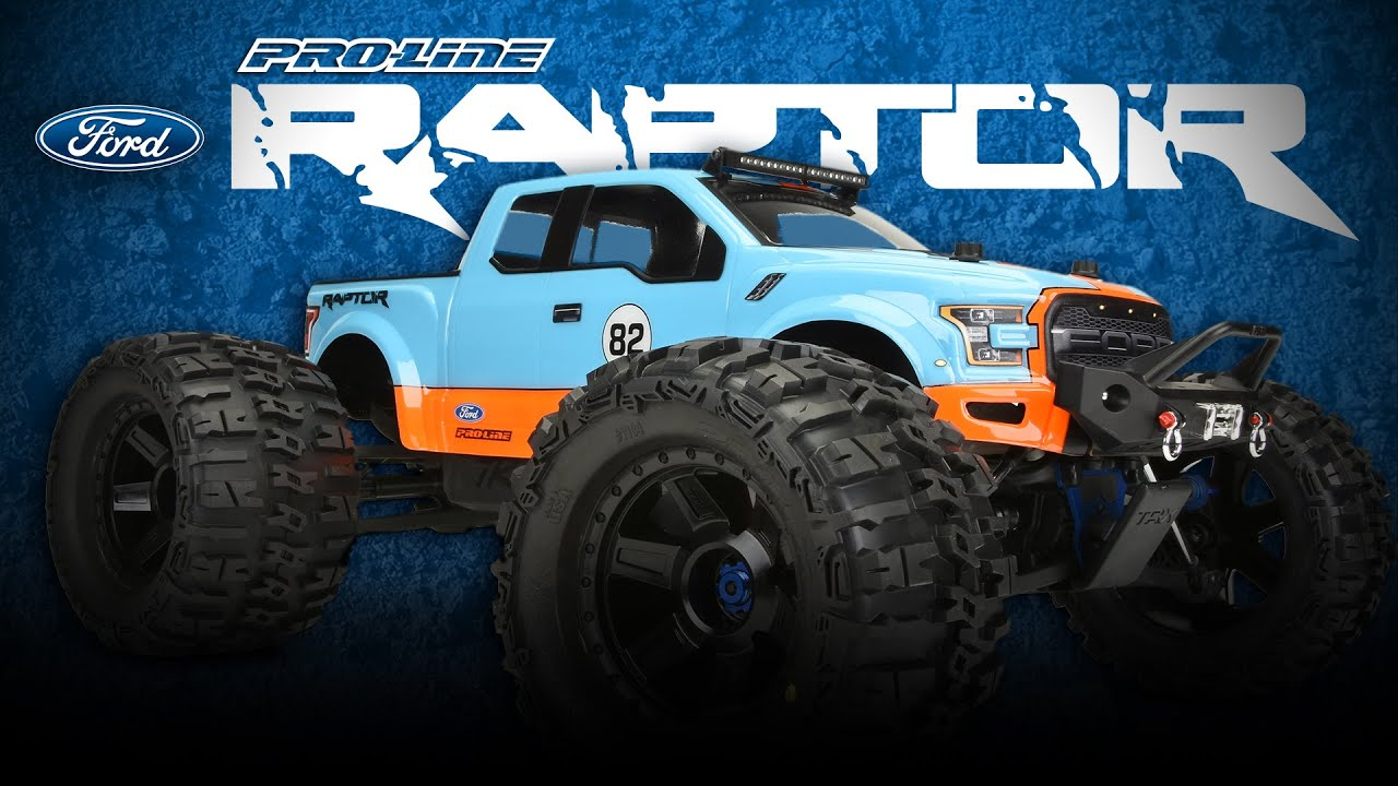 Ford F 150 Shelby >> Pro-Line 2017 Ford F-150 Raptor Monster Truck Clear Body ...