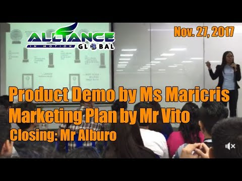 Product Demo by Ms Maricris/Marketing Plan by Mr Vito Nov. 27, 2017
