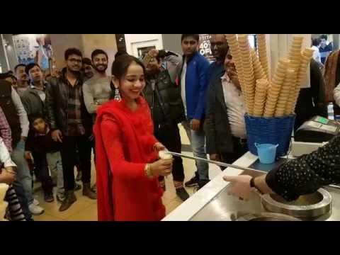 Turkish icecream india the great India place mall noida