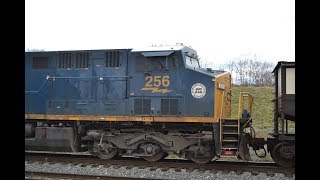 3 trains in Shenandoah Junction, WV with CSX 256