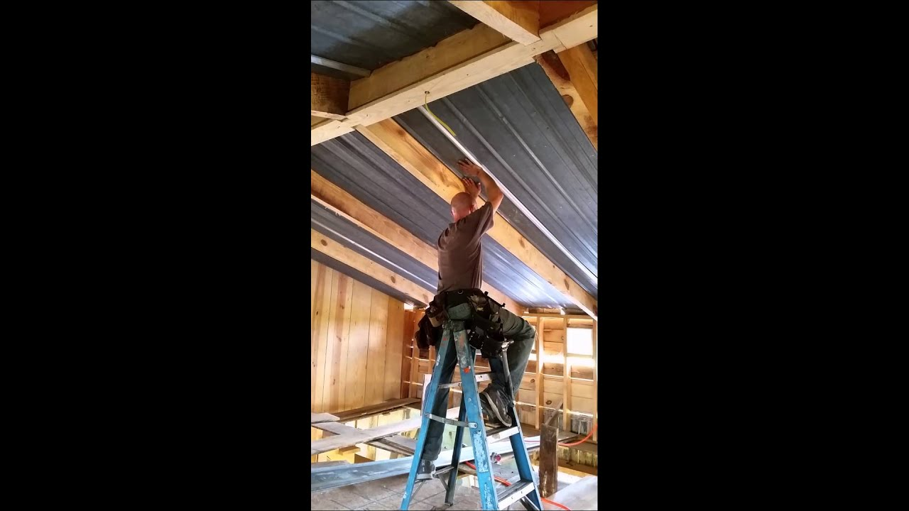 Installing Tin Metal Roof As Ceiling Vol 3 Unedi Youtube