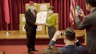 Taiwan donates masks to American Legion