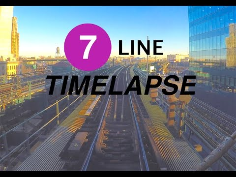 ⁴ᴷ NYC Subway Timelapse - The Queens-bound 7 Line