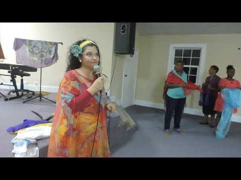 Liora Ziet con't teaching, women's meeting, Bahamas