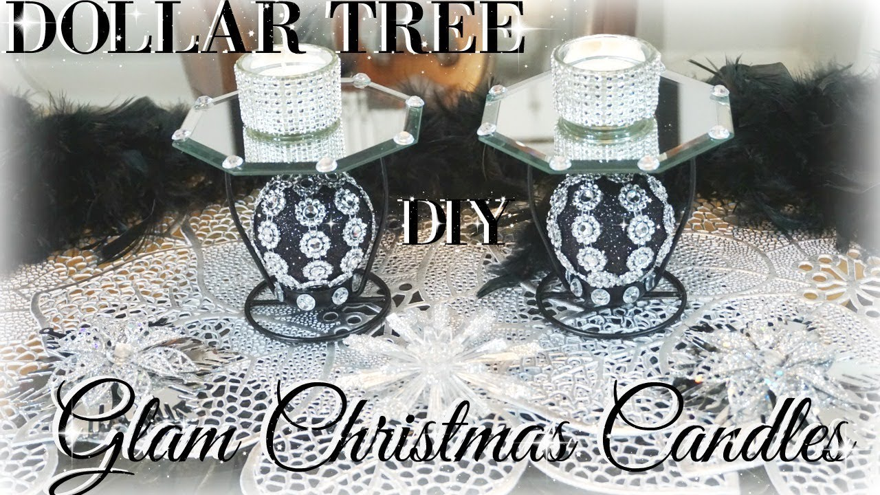 DIY DOLLAR TREE GLAM CANDLE HOLDERS