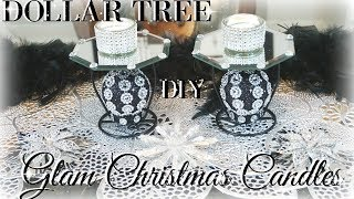 DIY DOLLAR TREE GLAM CANDLE HOLDERS | DIY DOLLAR STORE | DIY HOME DECOR CRAFTS