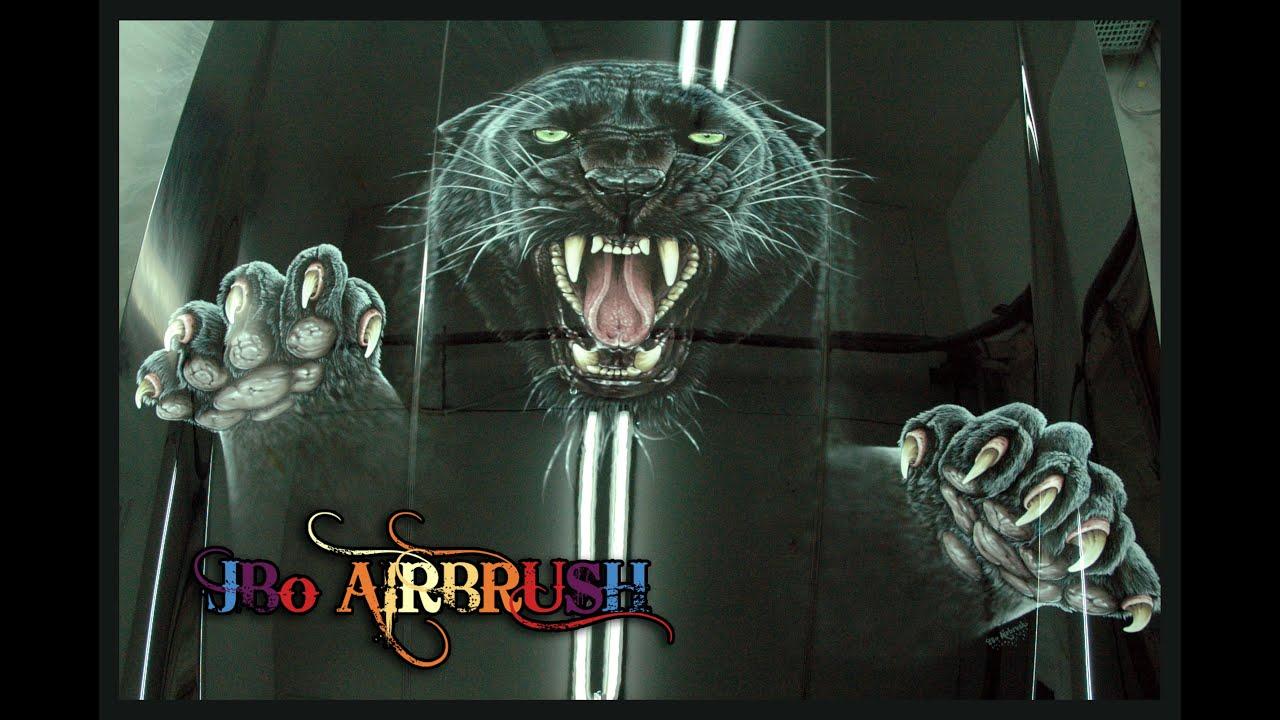 jbo airbrush painting the jaguar hood youtube