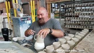 Inside the Homer Laughlin China Factory and How it's Made @fiestadinnerware