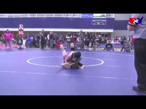 WM - JR Finals 125 lbs Steffanie Hampton (Michigan) vs Montana Drum (Neosho)
