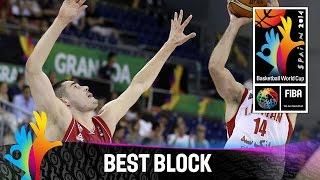 Iran v Serbia - Best Block - 2014 FIBA Basketball World Cup