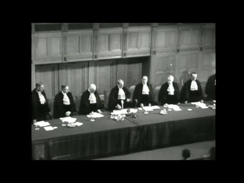 Inaugural Session of the International Court of Justice