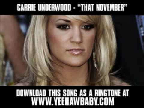 Carrie Underwood - That November ( Demo Song ) [ New Video + Download ]