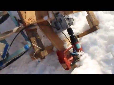 видео: Самодельный снегоход своими руками с двигателем от шуруповерта 2