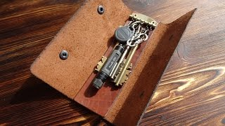 Работа с кожей. Ключница. Leather case for key