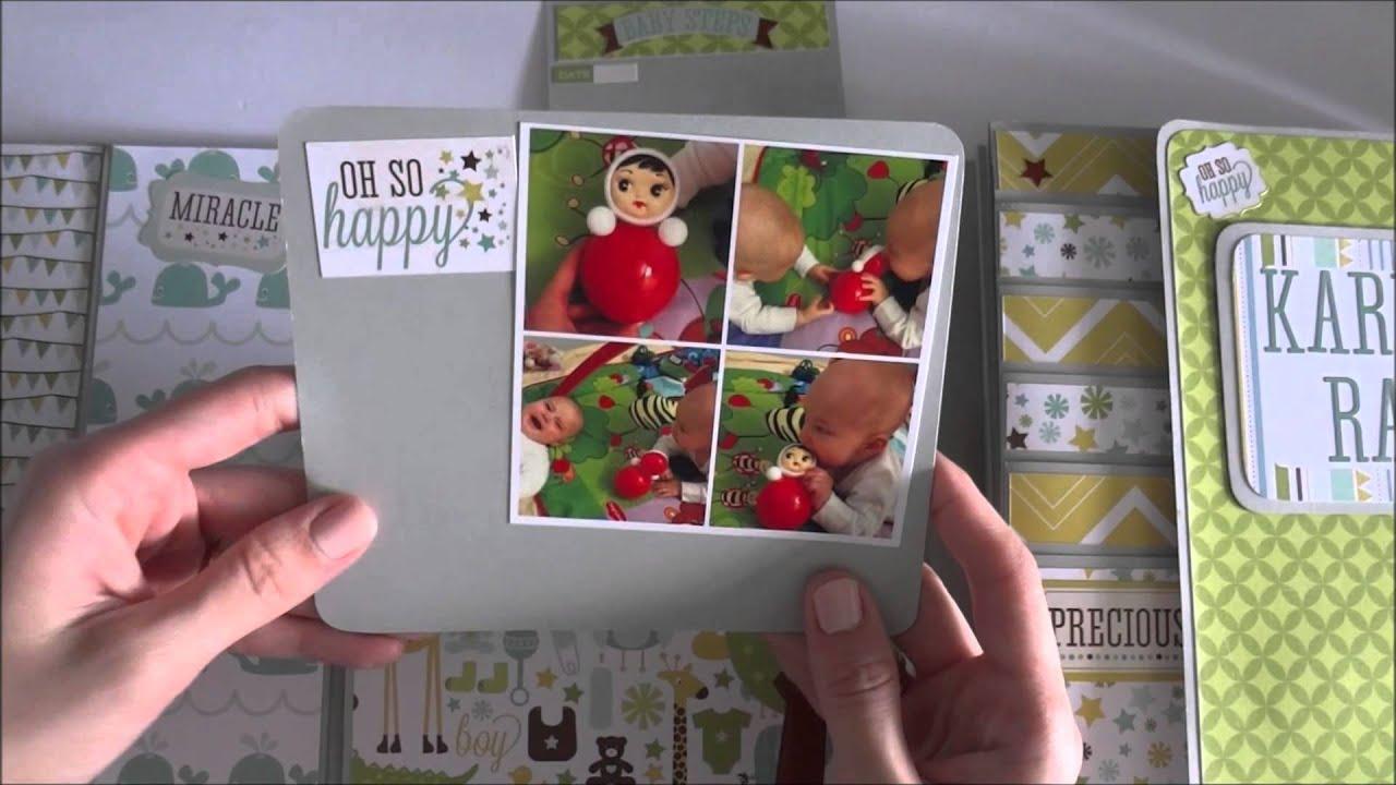 Echo Park Bundle of Joy Baby Boy - Фото папка - Скрапбукинг мастер-класс / Aida Handmade