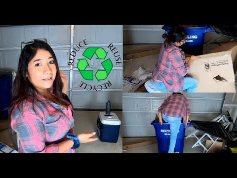 Recycle day clean up. Home speed cleaning  up for moms